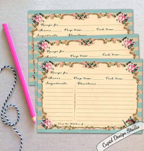 Wedding Gift Recipe Cards : ... recipe cards / printed recipe cards / bridal shower gift / gifts for