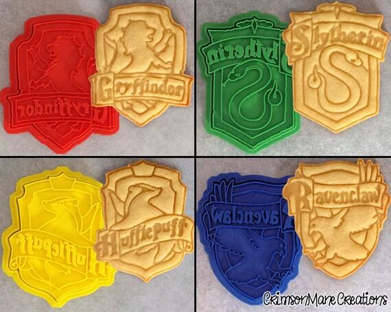 Harry Potter Hogwarts House Crests Inspired Cookie Cutter Set
