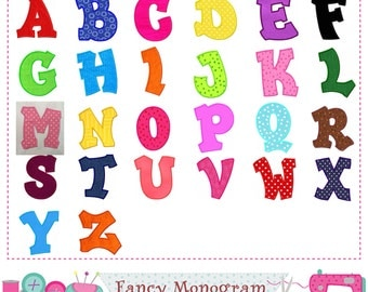 Monograms applique,letters applique,Letters design,Alphabet,Fonts design,Capital Momograms,Plain letters applique,Monogram,Letters 26.-03