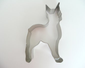 """4"""" Boxer Cookie Cutter Dog Tin Plated Stainless Steel Fondant Stocking Stuffer"""