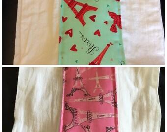 Paris Love Burp Cloth
