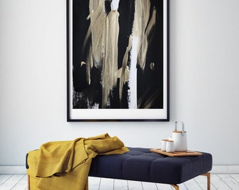 Abstract painting in gold and black fine Art print SP No. 13/Download File
