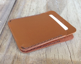 Minimalist Kangaroo Leather Wallet, The Annandale, Cappuccino Colour, Personalised Third Anniversary Gift, Australian Made Wallet