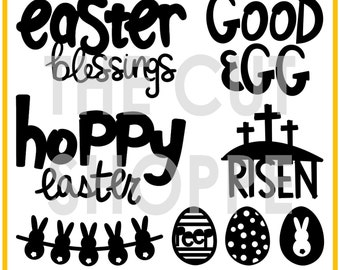 The Hoppy Easter cut file set includes 8 Easter themed images, that can be used for your scrapbooking and paper crafting projects.