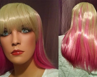 Mixed Blonde and Pink Lolita Cosplay Wig