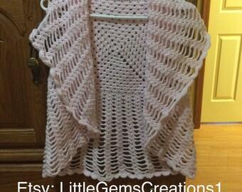 Shrug Vest Sleeveless Coat crochet New Handmade