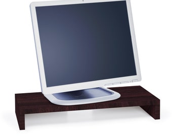 Modern Eco Friendly Monitor Stand and Computer Monitor Riser Espresso by Way Basics