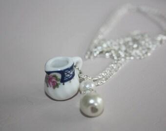 Handmade Shabby Chic Milk Jug Necklace