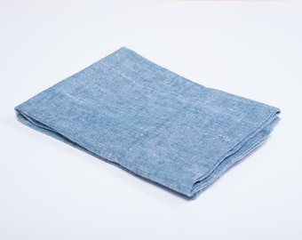 Linen Pillow Cases - Chambray Blue