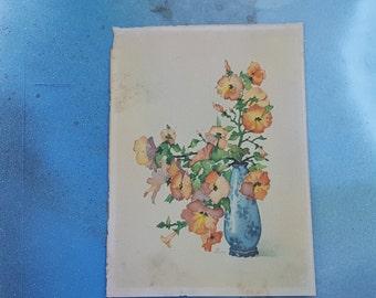 Antique Print / Dutch Print / Floral Print by Jo Roelofs / 30s Print
