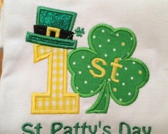 1st St Patrick's Day bodysuit