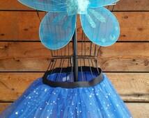 Sparkle Tutu-Matching Pixie Wing, Rainbow Tutu, Fairy Wings, Fairy Party, Birthday Party, Running Skirt, Color Run, Tutu Run