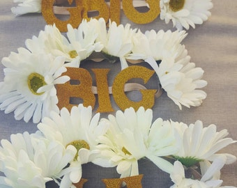 Big/Little headband flower crown set