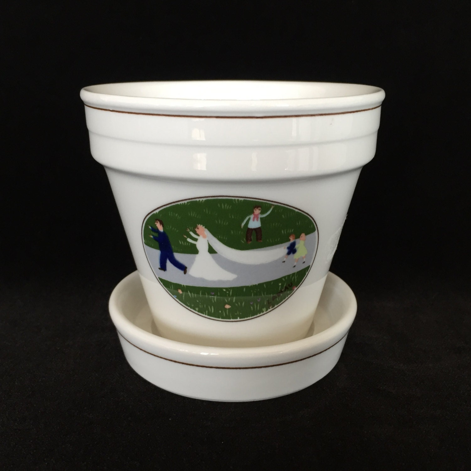 Villeroy and boch naif wedding small flower herb pot small for Villeroy boch naif