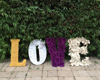 Wood LOVE letters - Shower or Wedding Prop - Home Accent