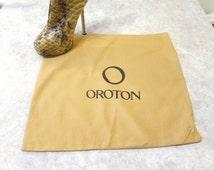 "Large Oroton dust bag,  dustbag, Oroton, flat bag,  regift, storage, handbag storage  16"" x 16"", 816/636"