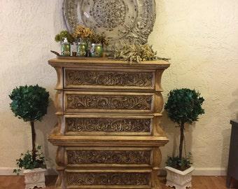 Beautiful Ornate Dresser - Free Shipping***Free Shipping
