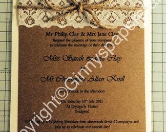 Shabby Chic Wedding/Party Invitation