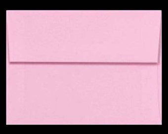 25 A7 Envelopes PINK PASTEL for 5x7 DIY Blanks - Cards Invitations Announcements Parties with Square Style Flap Good Quality