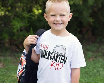 Kindergarten shirt, back to school shirt, first day of kindergarten, boys kindergarten shirt, 1st day of kindergarten shirt