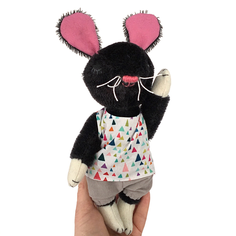 Mohair mouse stuffed mouse handmade stuffed animal Waldorf toy
