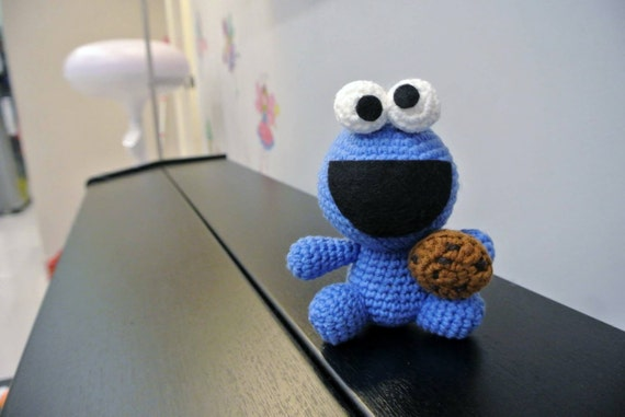 Amigurumi Cookie Monster Pattern : Crochet Cookie Monster Amigurumi Handmade Crochet Amigurumi