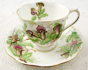 """Royal Albert """"Jack-in-a-Pulpit"""" Tea Cup and Saucer, Vintage Bone China"""
