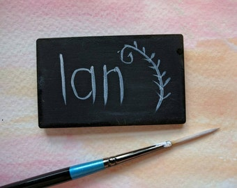 12 Double Sided Mini Chalkboards, Real Chalkboard, Craft Fair Price Labels 60mm x 37mm  013-512