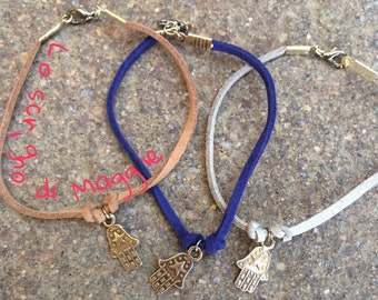 Bracelet with cord and hand of fatima • Bracelet with cord and hand of Fatima (friendship)