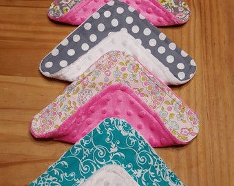 Baby Wash Cloths, Baby Wash Rags, baby shower gift, bath time, cleaning rags, babies, baby girl, hot pint rags, gray rags, teal wash cloths