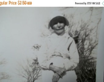 On Sale Vintage Photograph of a Older woman, Collectible