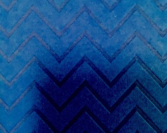 Embossed Chevron Cupcake Wrappers Blue Collection