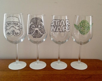 Star Wars Set of 4 White Wine Glasses