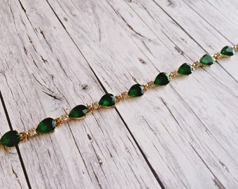 Bracelet ladies - classic chic in green gold