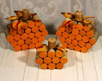 rustic fall decor pumpkin decor fall wedding decorcork pumpkins rustic pumpkin - Pumpkin Decor