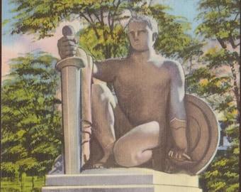Soldiers & Sailors Monument Barre Vermont Vintage Postcard 104