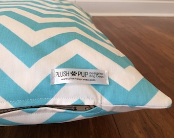Chevron Dog bed cover, Blue Dog bed cover, blue chevron dog bed cover, Zig Zag Dog bed cover