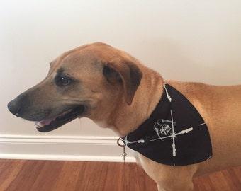 Dog Bandana, Over The Collar Dog Bandana, Contemporary Dog Bandana, Star Wars Dog Bandana, Black Bandana, Modern Dog Bandana