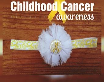 Childhood Cancer Awareness Ribbon Girls Headbands