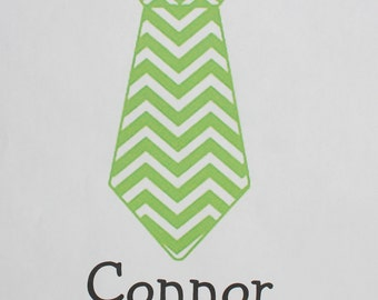 Chevron St. Patrick's Day personalized necktie bodysuit or toddler shirt