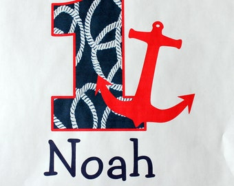 Nautical Birthday bodysuit or t-shirt- Any Age available