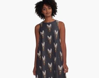 My Pet Fly A-Line Swing Dress Trapeze Dress XS S M L XL 2XL Woman Teen Wearable Art Clothing