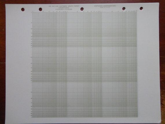 vintage logarithmic graph paper dietzgen 341