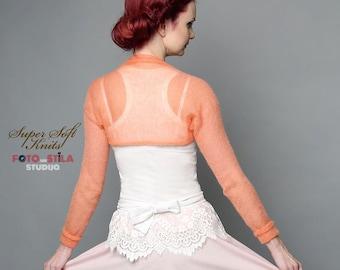 Peach Wedding shrug Bridal bolero Wedding Cover Ups Bridesmaids bolero jacket Weddings accessories jacket Bridal Cape Bridesmaid Gift