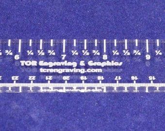 """15"""" x 1.5""""  Acrylic Ruler-  ~1/4""""  Clear Acrylic   - Quilting Template Tool"""