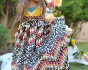Adeline Bohemian Chic Linen Maxi Dress