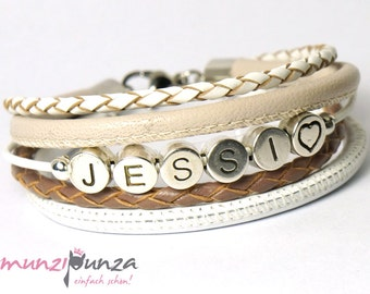 LEATHER name bracelet article 144