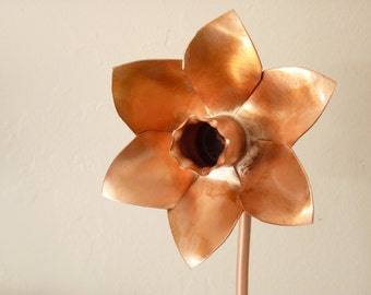 Copper daffodil, metal flower home decoration