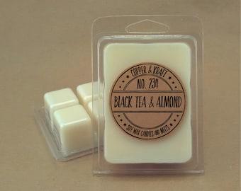 No. 234 BLACK TEA & ALMOND // Soy Wax Melt // Soy Wax Tarts // Highly Scented Wax Melts