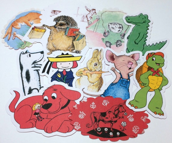 Large Storybook Die Cuts,Cut Outs,Scrapbooking,Scrapbook Supplies,Scrapbooking Die Cuts,Children's Books Die Cuts,Version 3,Storybook Shower